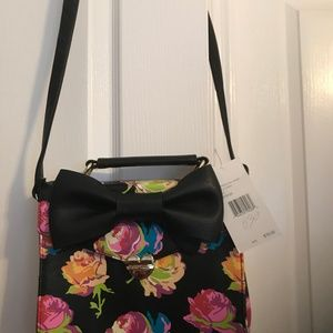 Betsey Johnson Top Handle Box X Body Bag